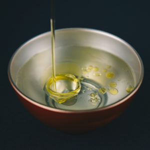 oil and water in a bowl